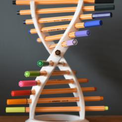 adn1.png Télécharger fichier 3MF Porte-plume ADN par TIXEN • Plan pour impression 3D, tixenre