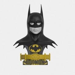 26.jpg Download STL file Batman 19889 bust life size 3D print model • Model to 3D print, darthasen