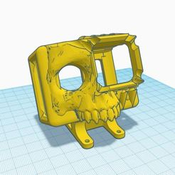 Download free STL file GoPro Hero 7 Skull Mount for iFlight DC5, Megabee • 3D printable object, rodrigosclosa