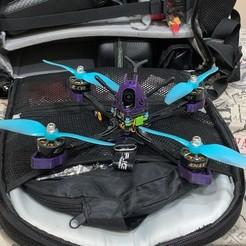 Descargar archivos STL gratis Marco del dron de palillos de 5 pulgadas, rodrigosclosa