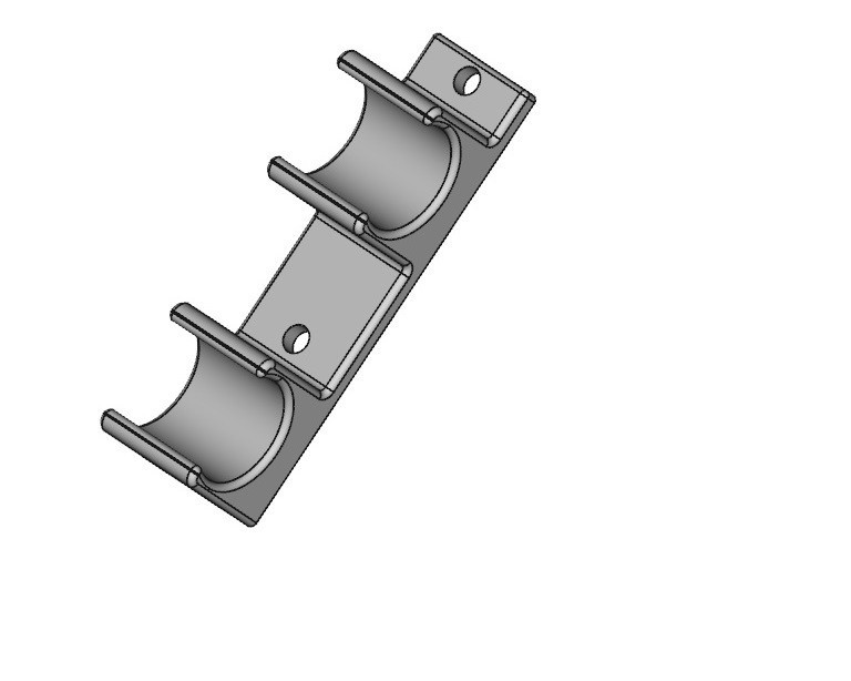 stabilizer bar Clip Tilted.jpg Download STL file Archery Stabilizer bar Clip  • 3D printer object, daztoni