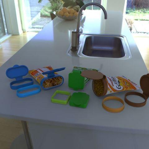 Download free 3D model Chip bag cover / enclosure, poorveshmistry