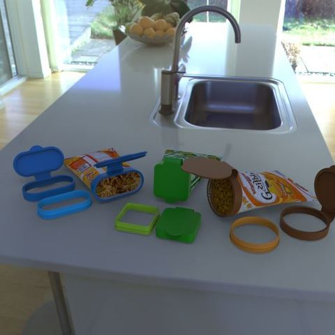 Free 3D printer files Chip bag cover / enclosure, poorveshmistry