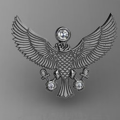 Download free STL file 3d egyptian-eagle pendent, poorveshmistry