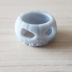 20200430_173854.jpg Download free STL file Halloween ring 1 • 3D printing template, poorveshmistry