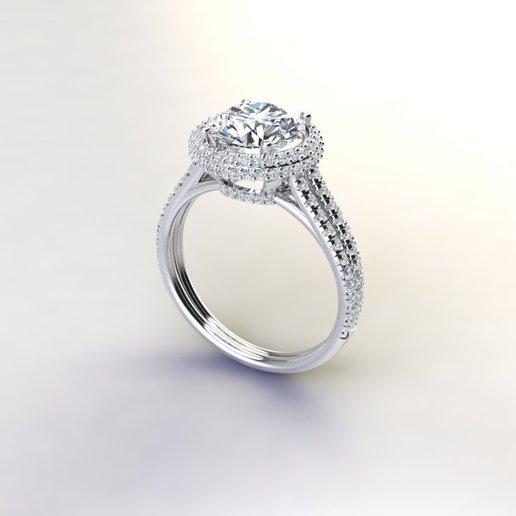 Télécharger fichier STL gratuit Anneau en diamant 22 carats • Plan à imprimer en 3D, poorveshmistry