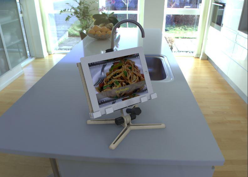 2.JPG Download free STL file Recipe book / iPad / tablet holder • Design to 3D print, poorveshmistry
