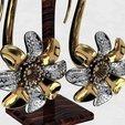 Download free 3D printer templates Flower earing, poorveshmistry