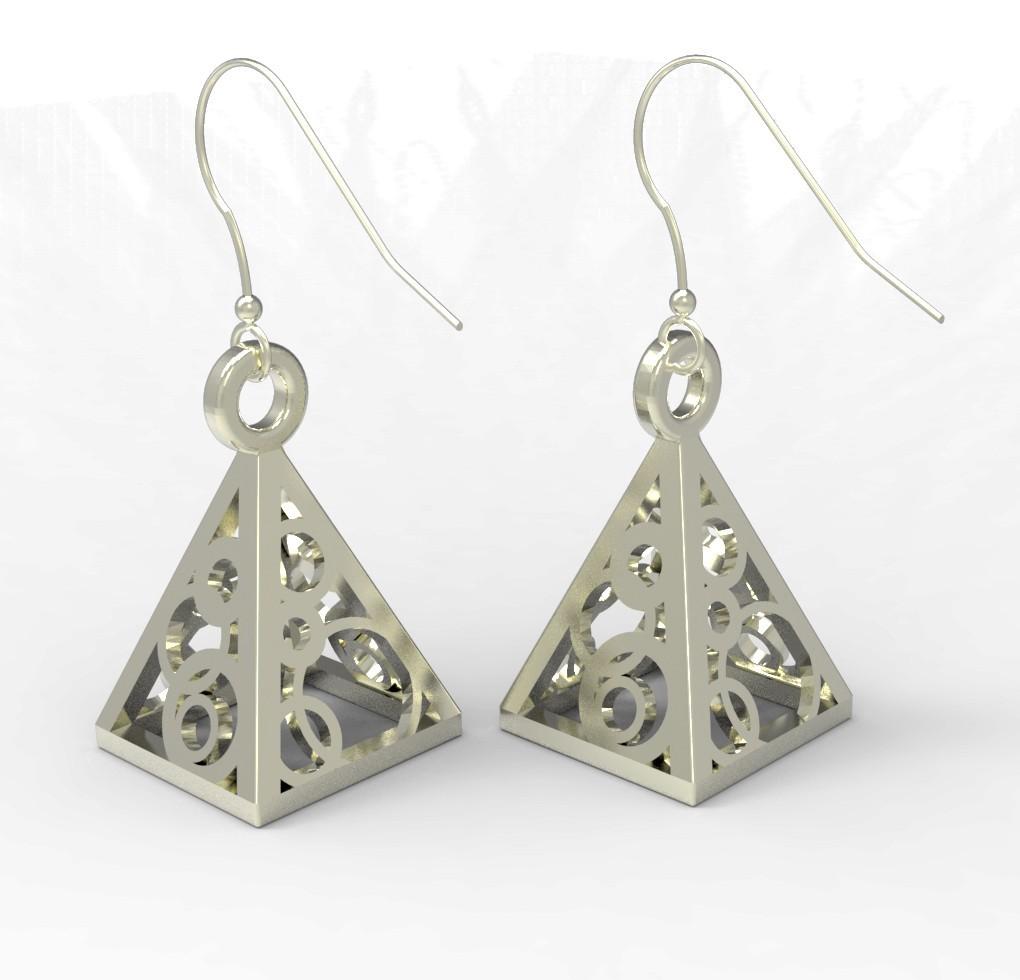 Pyramid.jpg Télécharger fichier STL gratuit Boucles d'oreilles en Pyramide / Pendentif • Modèle pour imprimante 3D, FelicityAnne