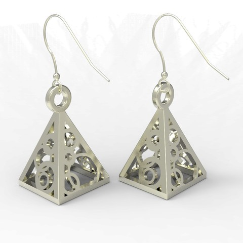 Free 3D printer model Pyramid Earrings/Pendant, FelicityAnne