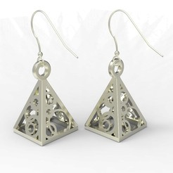 Download free 3D printing models Pyramid Earrings/Pendant, FelicityAnne