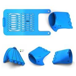 hand 5.jpg Télécharger fichier STL gratuit Fusion Main / Main prothétique • Objet imprimable en 3D, FelicityAnne