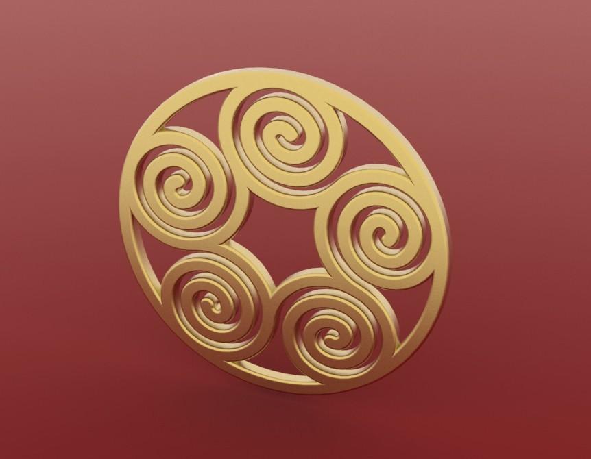 Spiral_pendant2.jpg Download free STL file Spiral Pendant 2 • 3D printing design, FelicityAnne