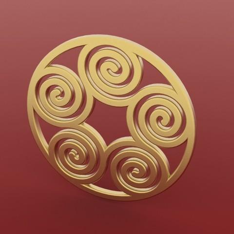 Télécharger fichier impression 3D gratuit Pendentif spirale 2, FelicityAnne