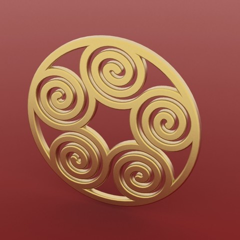 Download free STL file Spiral Pendant 2, FelicityAnne