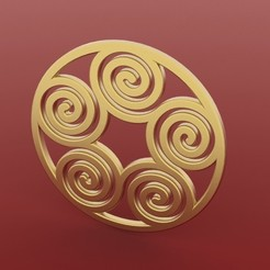 Download free STL file Spiral Pendant 2, FelicityAnne