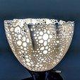 Download free 3D printing models Voronoi Flower Lampshade, FelicityAnne
