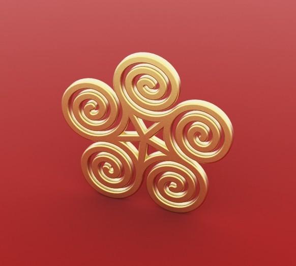Spiral_pendant.jpg Télécharger fichier STL gratuit Boucle d'oreille spirale Pendentif • Objet imprimable en 3D, FelicityAnne
