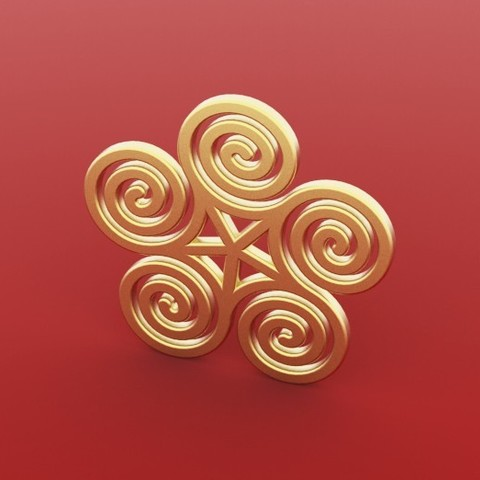 Download free 3D printer designs Spiral Earring Pendant, FelicityAnne