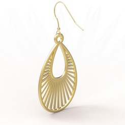 Free 3D print files Tear Drop Shaped Earring, FelicityAnne