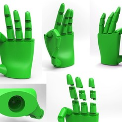 Download free 3D printer model hand experiment 101, FelicityAnne