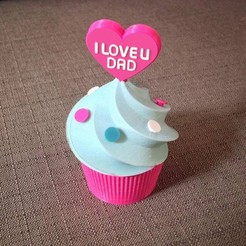 Download 3D printing templates LOVE CUPCAKE, DDDPrint