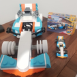 Free 3D printer designs Giant Lego Creator F1 Car, Frypan_13