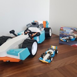 Download free 3D printer designs Giant Lego Creator F1 Car, Frypan_13