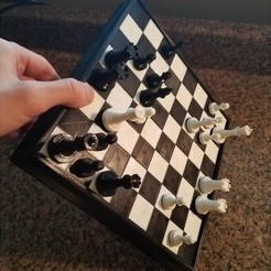 Free 3D printer model Magnetic Chess Set, juglaz