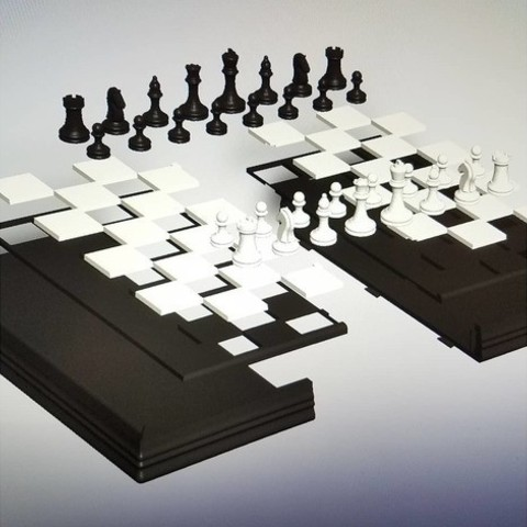 8030dac572529b58c6ddfd021707ee1d_preview_featured.jpg Download free STL file Magnetic Chess Set • Template to 3D print, juglaz