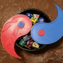 030889c7abaf6f1626c1c4a3959e0e76_preview_featured.jpg Download free STL file Red/Blue Yin-Yang MTG Dice Box • 3D print model, juglaz