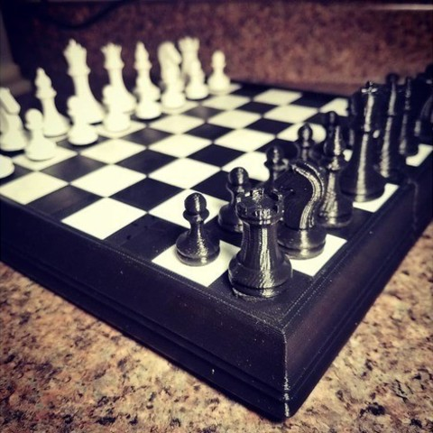 9de20b95f2da04b05876f930722ec8f5_preview_featured.jpg Download free STL file Magnetic Chess Set • Template to 3D print, juglaz
