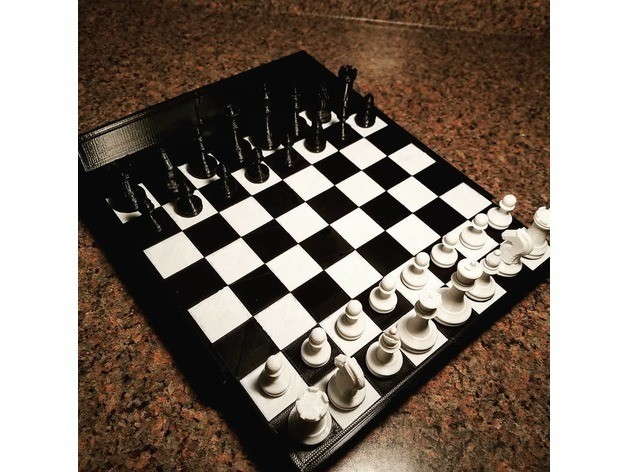 1b56ec9f7838f0dcad1e454879b11d3a_preview_featured.jpg Download free STL file Magnetic Chess Set • Template to 3D print, juglaz