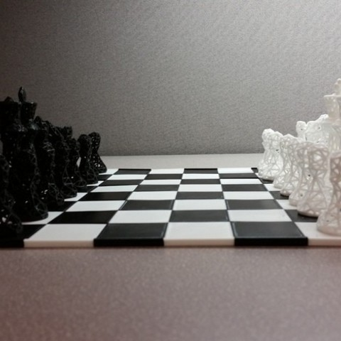 cbe90b7cbffc0e46de5cb0d66333bc98_preview_featured.jpg Download free STL file SNAP fit chess/game board • 3D printer object, juglaz