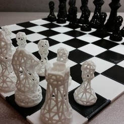Download free 3D printing templates SNAP fit chess/game board, juglaz