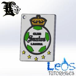 Télécharger objet 3D Porte-clés Santos Laguna, ingdanielleos2