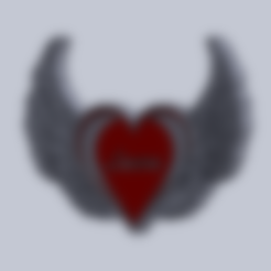 Download free 3D printing files Heart with wings Valentine's Gift, ingdanielleos2