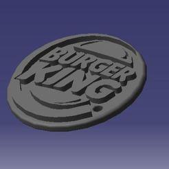 llavero BK.JPG Download STL file Burger King Keychain • Model to 3D print, fdiazfranco81