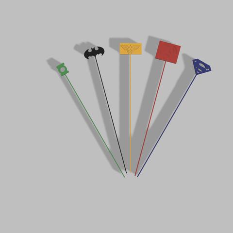 image 2.png Download free STL file Super Hero Cocktail Stirrer / Super Hero Cocktail Stirrer • 3D printing design, hungerleooff
