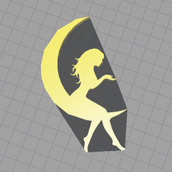 Download free 3D printing designs silhouette moon, williamojendiz