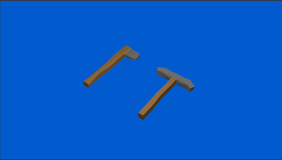 Low poly.PNG Télécharger fichier STL gratuit Low poly Pickaxe & Axe • Objet à imprimer en 3D, CapitainHippo