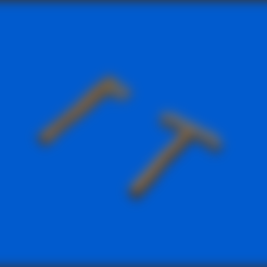 Low poly.stl Télécharger fichier STL gratuit Low poly Pickaxe & Axe • Objet à imprimer en 3D, CapitainHippo