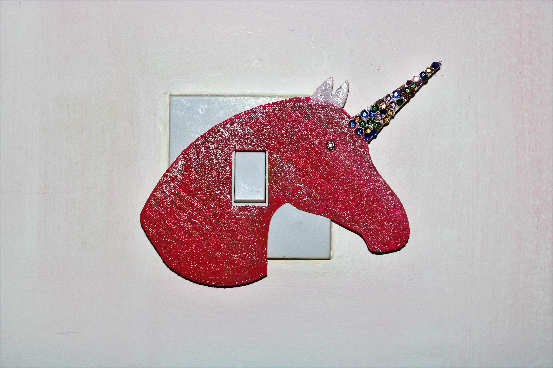 3d printer models unicorn light switch cover ・ cults