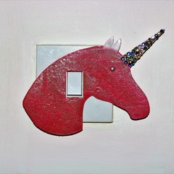 3D printer models Unicorn light switch cover , M3D-Print