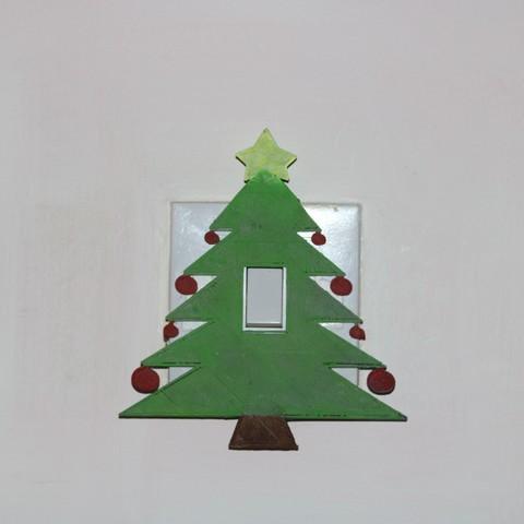 Impresiones 3D Cubierta del interruptor de la luz del árbol de Navidad, M3DPrint