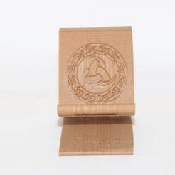 3D printing model Celtic trinity Phone Stand, M3DPrint