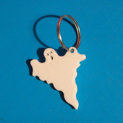Download free 3D printer templates ghost keychain, M3DPrint