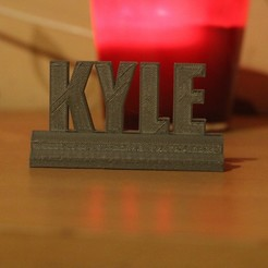 Free 3D printer designs Kyle stand, M3DPrint