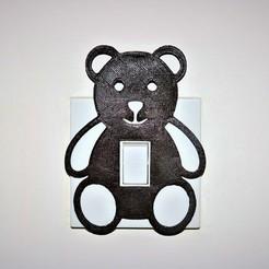 Bear lightswitch pic.JPG Télécharger fichier STL Couvercle de l'interrupteur de feux Teddy • Plan pour impression 3D, M3DPrint