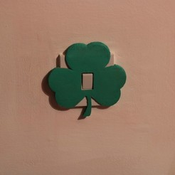 STL file Shamrock light switch cover, M3D-Print